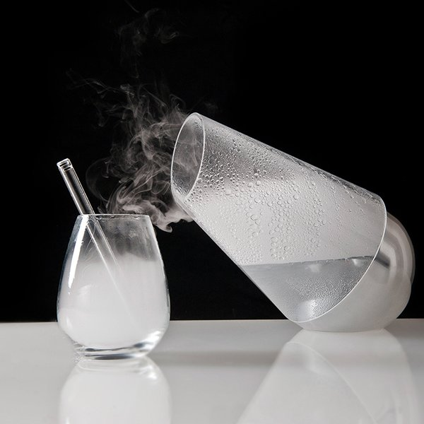 Le Whaf by The Lab Store Paris, $165   In no way necessary, though novel and nerdy: Pulsating crystals in the bottom of this carafe turn any liquid into clouds you can inhale. Pour it, then consume with a glass straw to sample flavors without the calories (or alcoholic content).