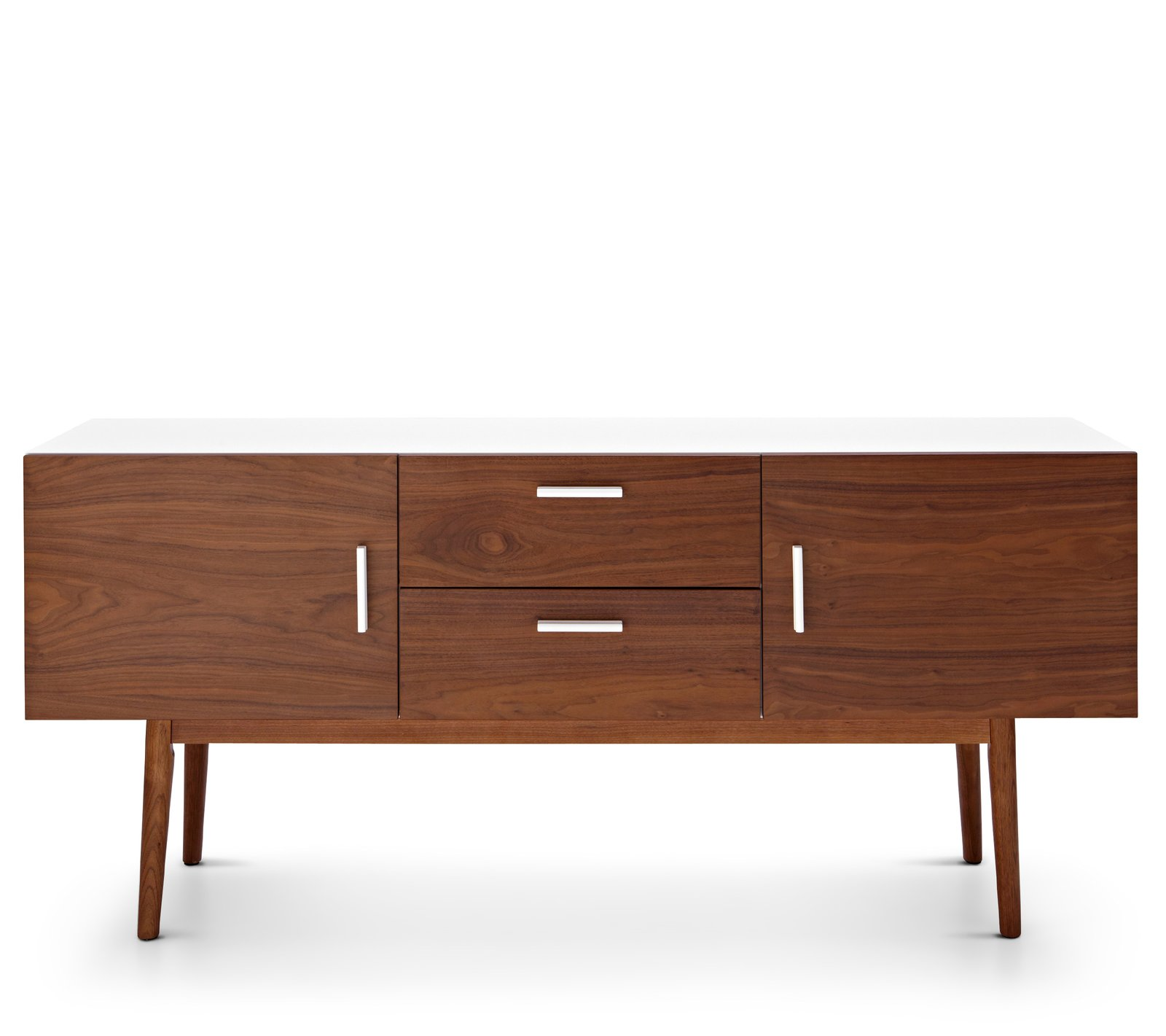 """Happy Chic by Jonathan Adler Bleecker 63"""" TV Cabinet  With cutouts for cable management, the Bleeker media cabinet features tapered legs, shaped pulls, and a solid ash and pine frame.  New Home Collection at JcPenney by Kristen W. Terry"""