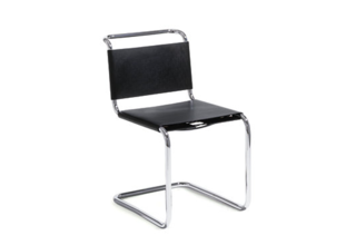 Spoleto ChairMays found her tubular Bauhaus chairs at Danish Modern L.A.; for a similar effect, try DWR's Spoleto chairs, their bases also mimic those of the Panton chairs. $1,211