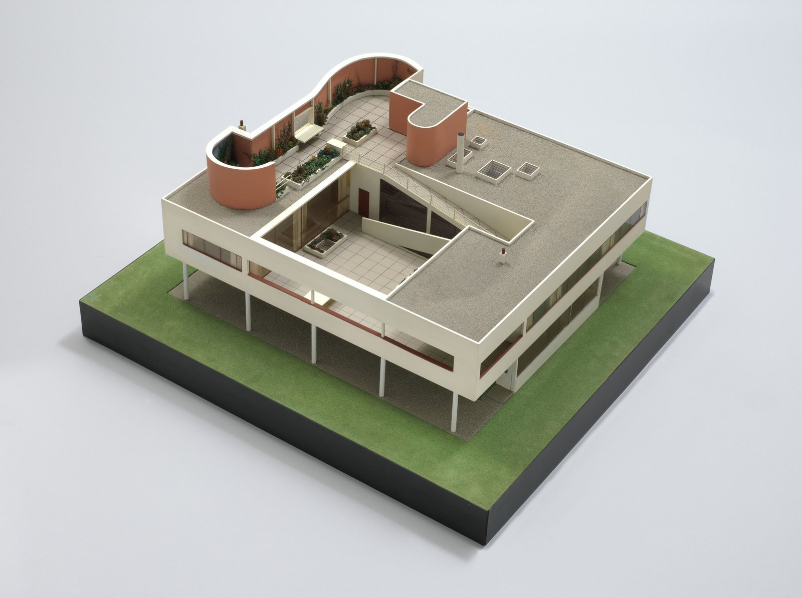 """Le Corbusier (Charles-Edouard Jeanneret) (French, born Switzerland. 1887-1965). Villa Savoye, Poissy. 1928-31. Model, 1932. Wood, aluminum, and plastic. 16 x 34 x 32"""" (40.6 x 86.4 x 81.3 cm). Model maker: Theodore Conrad. The Museum of Modern Art, New York. Purchase. © 2013 Artists Rights Society (ARS), New York / ADAGP, Paris / FLC  Photo 5 of 10 in Le Corbusier at the New York MoMA"""