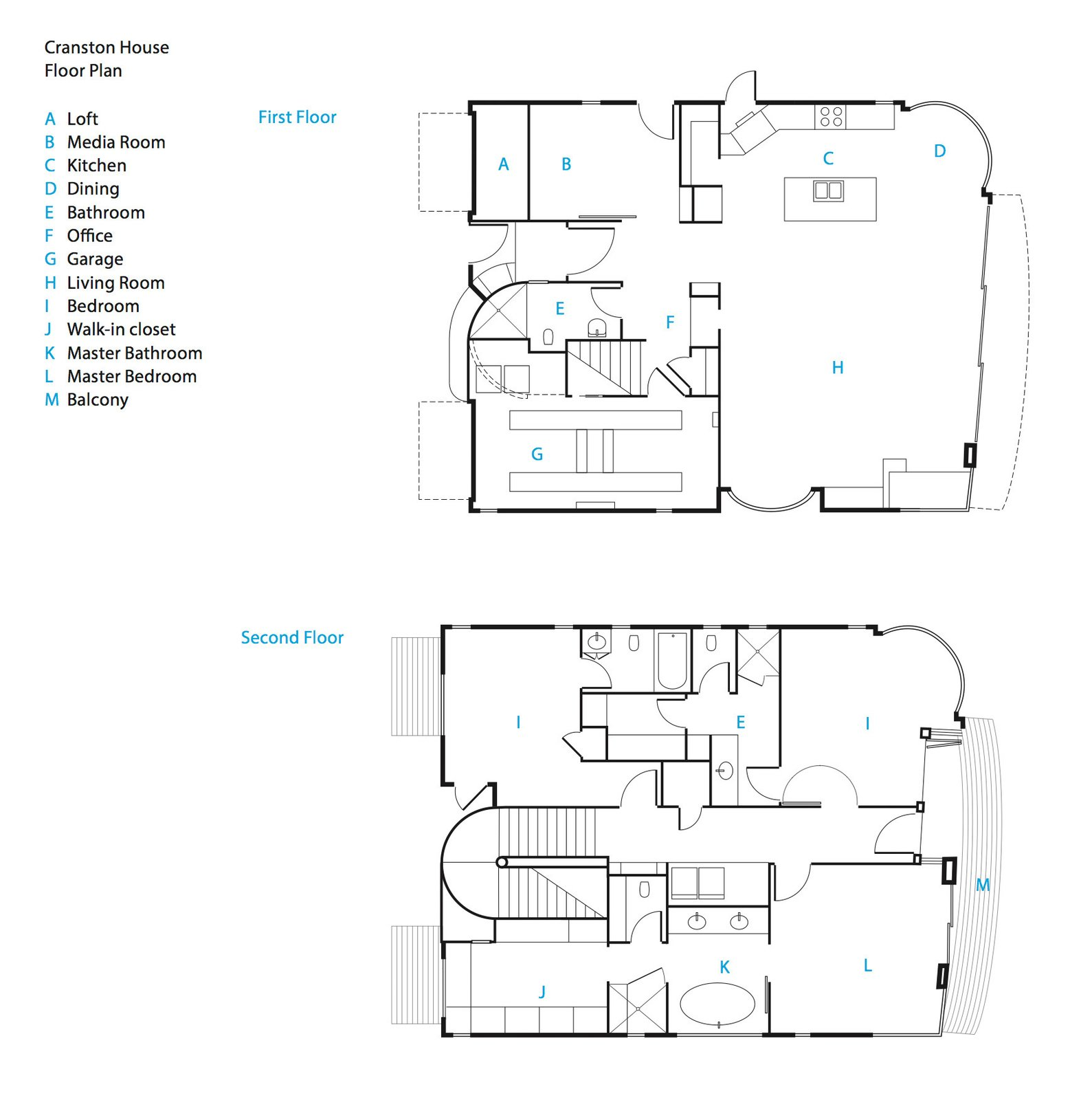 The renovated beach house's floor plans.   Photo 16 of 18 in Actor Bryan Cranston's Green Beach House Renovation