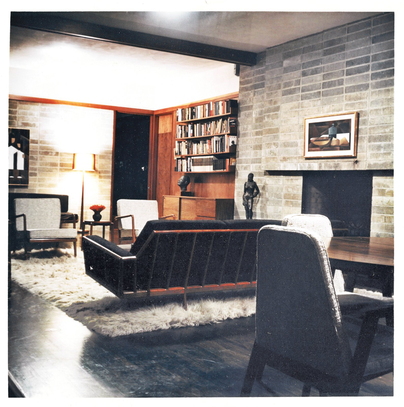 Smilow's house is located in Usonia, the Frank Lloyd Wright–designed community in Mount Pleasant, New York. The furnishings are all from Smilow-Thielle. Photo courtesy of the Smilow Family.  Photo 1 of 7 in Mid-Century Designer Focus: Mel Smilow