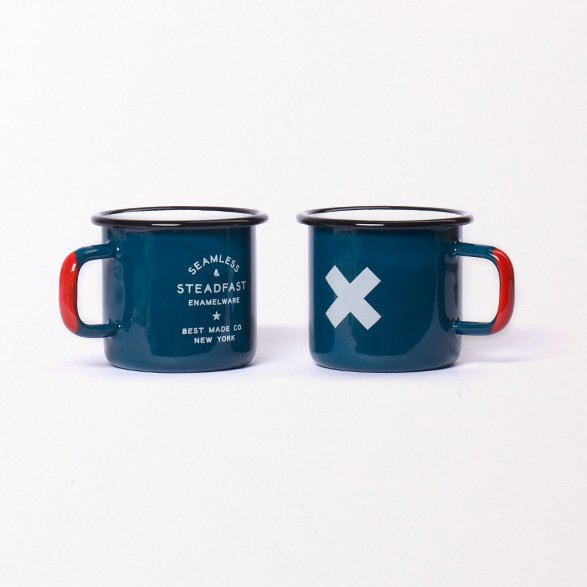 Johanna Lowe of Martyn George loves to use enamelware mugs for making individual pies and panna cotta when entertaining. Hers are vintage, but we love this set from Best Made Company. $32 for a set of two