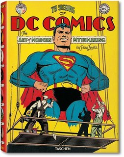 75 Years Years of DC Comics: The Art of Modern Mythmaking by Paul Levin, designed by Josh Baker for TASCHEN. The book contains over 2,000 images and clocks in at 720 pages and 18 pounds!