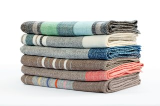 Blankets by Nordt Family Farm $110–$195  These merino wool blankets are handwoven by Dianne Nordt in Charles City County, Virginia.