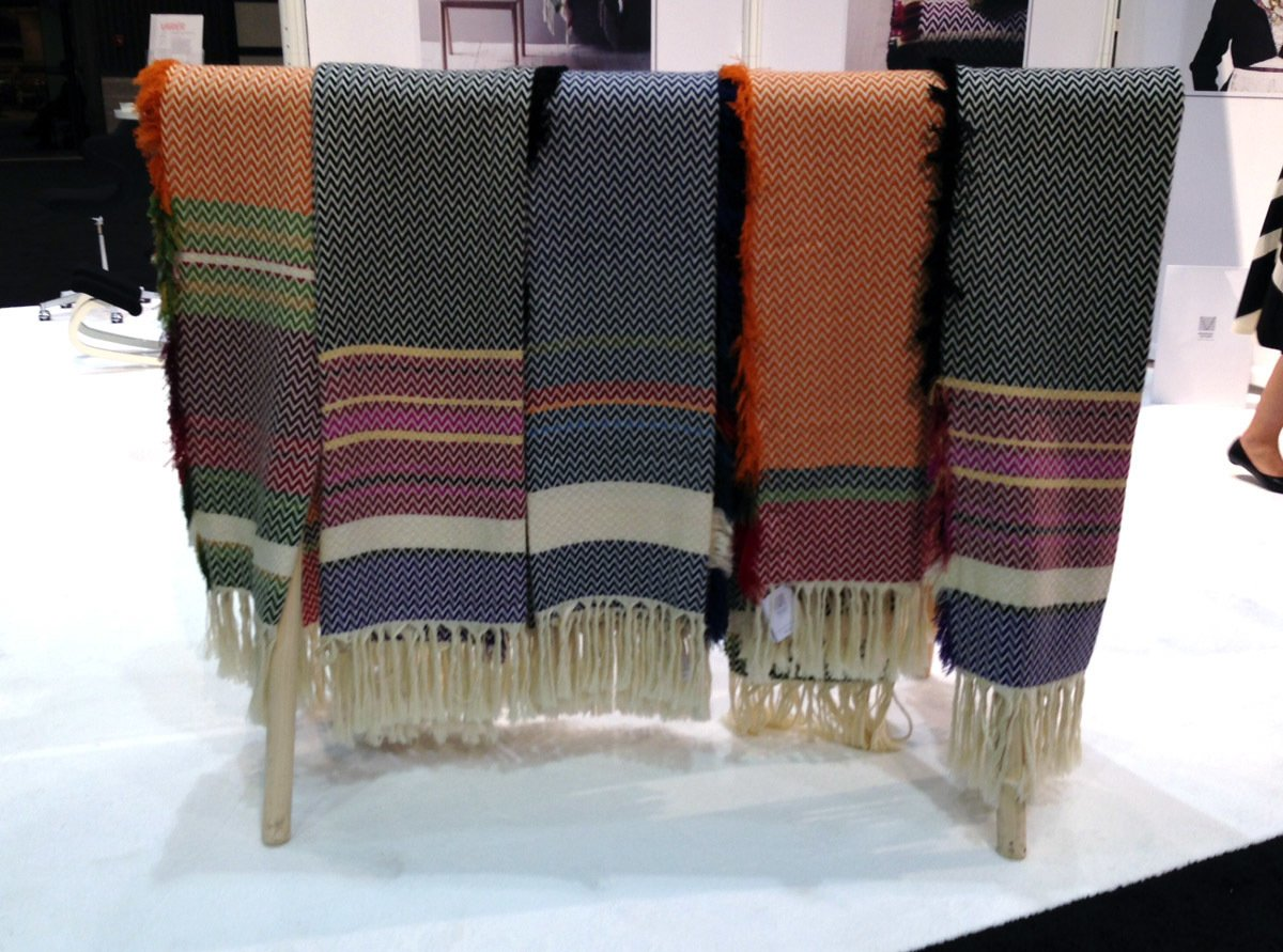 The Bunad blanket by Mandal Veveri features color ways based on Norwegian folk costumes from the 18th and 19th centuries.  Photo 3 of 8 in Norway Represents at 2013 Dwell on Design