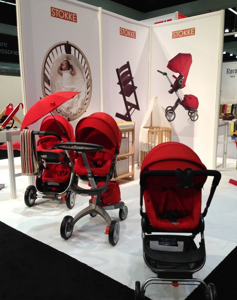 "Stokke® Xplory is the newest baby stroller from the Norwegian company founded in 1932, whose tagline is ""in the best interest of the child."" You may recognize the company's Tripp Trapp high chair, a modern classic often seen in the pages of Dwell.  Photo 8 of 8 in Norway Represents at 2013 Dwell on Design"