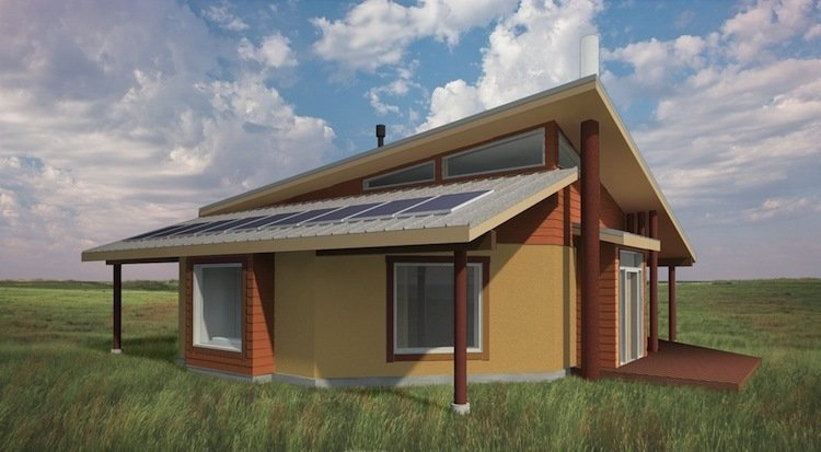 """Architecture for Humanity Home   """"We are enthusiastic about these home designs that reflect traditional life ways, while exemplifying deep green public-impact architecture,"""" says Nathaniel Corum, architect, Architecture for Humanity.  Photo 4 of 5 in Green Prefab Homes for a Native American Reservation"""