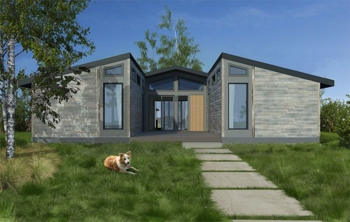 """LivingHomes Design   """"We believe Make It Right's Fort Peck project will set a standard for sustainable community development,"""" says Steve Glenn, founder, LivingHomes.  Photo 5 of 5 in Green Prefab Homes for a Native American Reservation"""