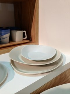 Haand, Booth MH 29  Artisanal design studio Haand trekked to Dwell on Design all the way from Durham, North Carolina, and brought a selection of handmade asymmetrical dinnerware (from $33–$350).
