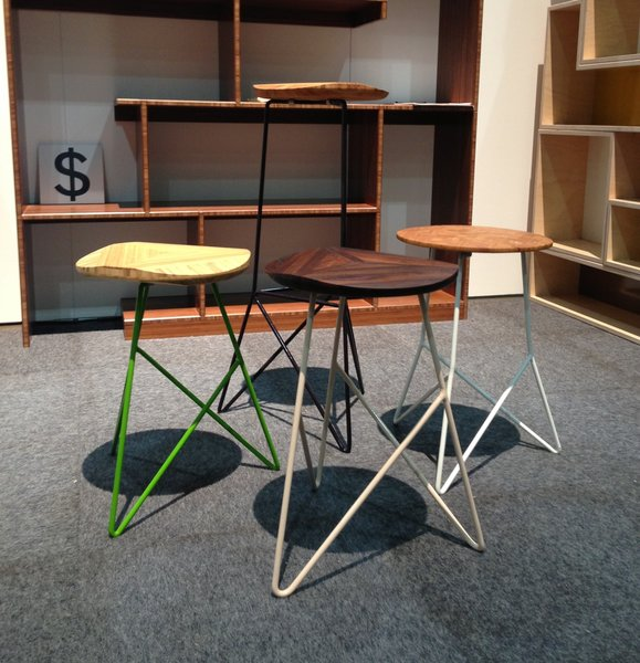 Brave Space Design, Booth 1420  Florida–based Brave Space Design is selling its wire-framed, wood topped stools for $475–495.