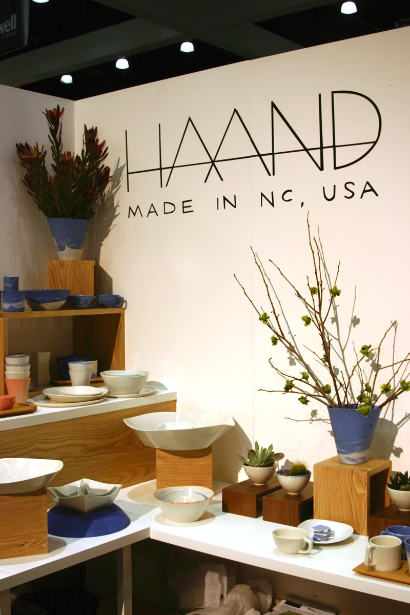 Best new ceramics: Haand, based in North Carolina, brought a great range of ceramics to Dwell on Design from everyday cups and plates to vases to architectural wall implements.  Photo 10 of 17 in Dwell on Design Editors' Picks