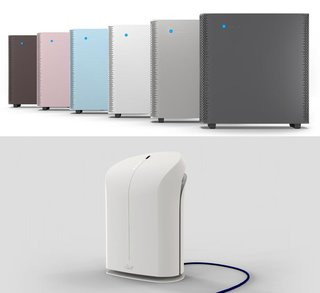 Kindest and gentlest: This year's Dwell on Design show floor saw not one but two air purifiers that excel in both form and function. Above, the Swedish company BlueAir; below, California's own Rabbit Air.