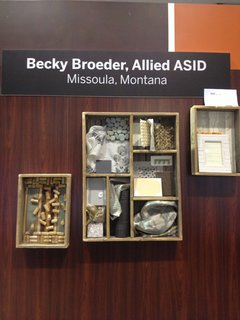 Becky Broeder, Allied ASID, out of Missoula, Montana, plays with wood, corks, and earth tones.