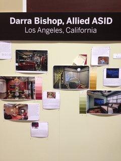 Los Angeles Allied ASID designer Darra Bishop displayed clippings of her favorite pins.