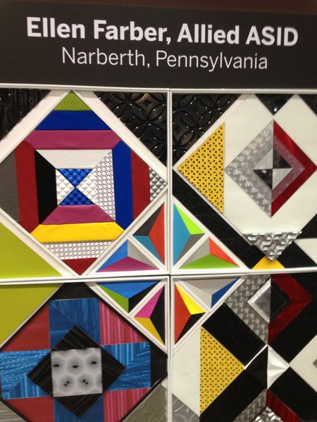 "For her board, Allied ASID designer Ellen Farber of Narberth, PA, created what she calls a ""kaleidoscope of colors."""
