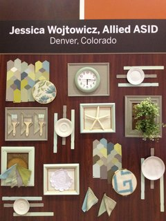 A mixture of natural and man-made elements makes up Allied ASID designer Jessica Wojtowicz's board.