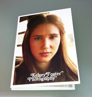 Today's promo is Kelsey Foster's foldout of fashion.  This is the front cover of the promotional photo piece.