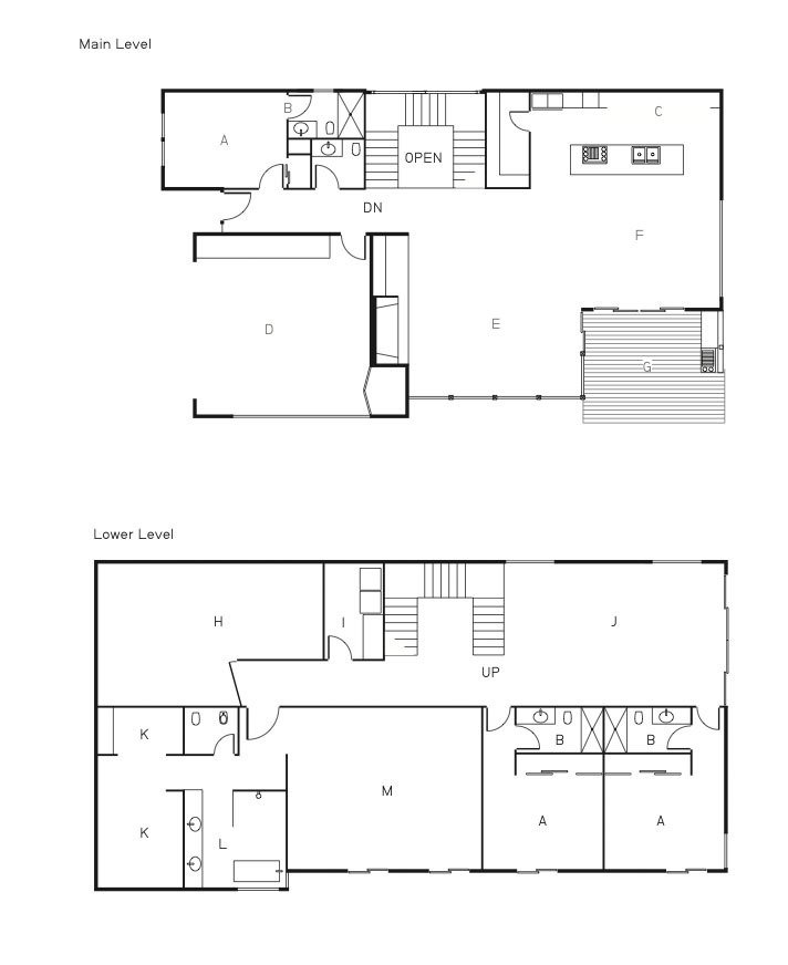 The floor plan of the Shayan House.  Photo 13 of 13 in The First LEED Gold-Certified Family Home in San Diego