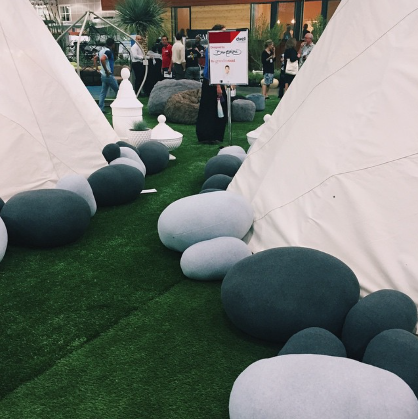 @bromco: These pillows flipping rock!! Literally! @rockpillows. #DODLA  Take a Stroll Through Dwell Outdoor 2015 by Dwell from Dwell on Design 2015: Day Two in Instagrams