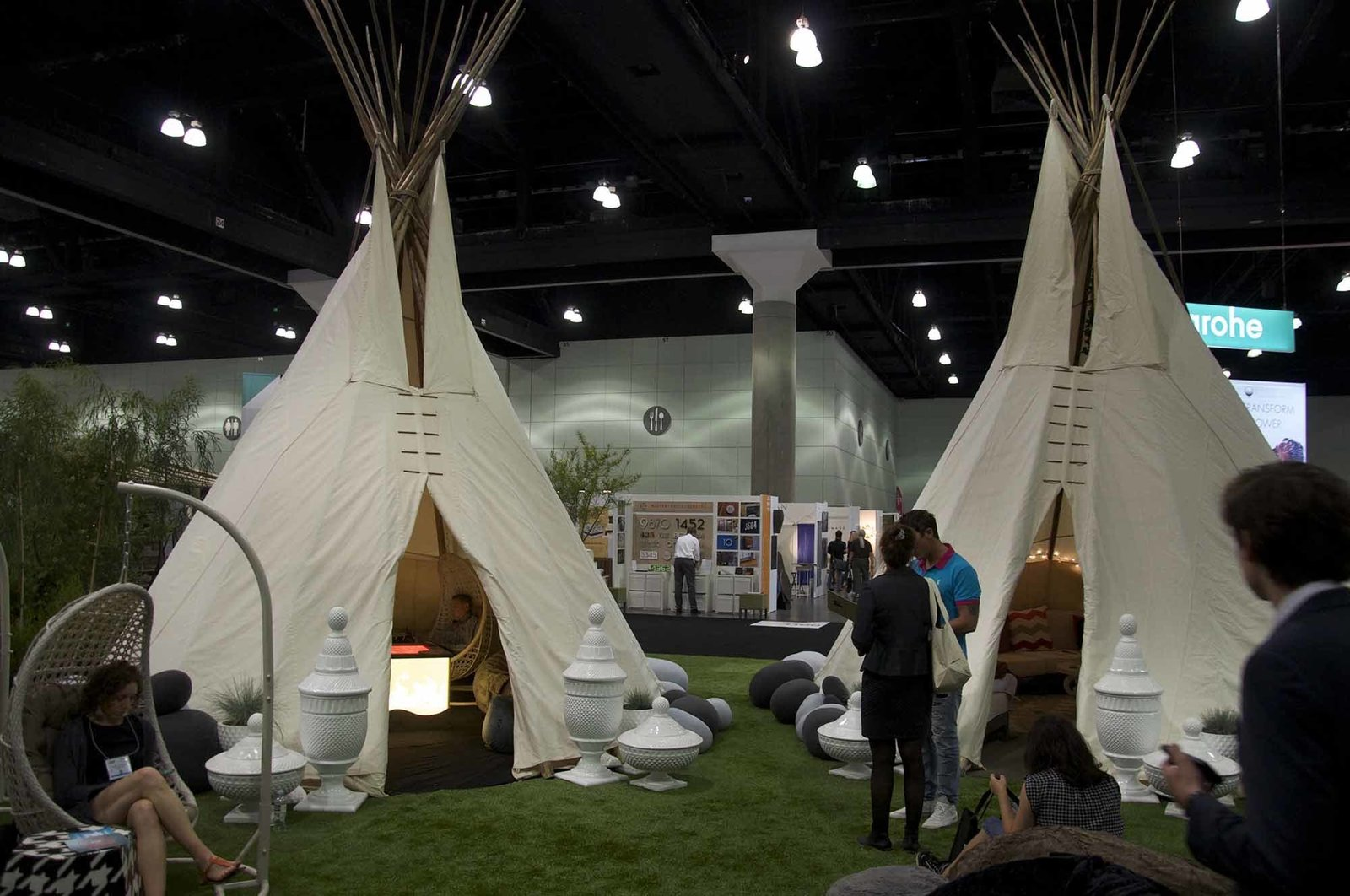 Indoor and outdoor furniture company Grandin Road arrived with three high-design teepees in tow to give attendees a lesson in modern glamping.  Take a Stroll Through Dwell Outdoor 2015 by Dwell
