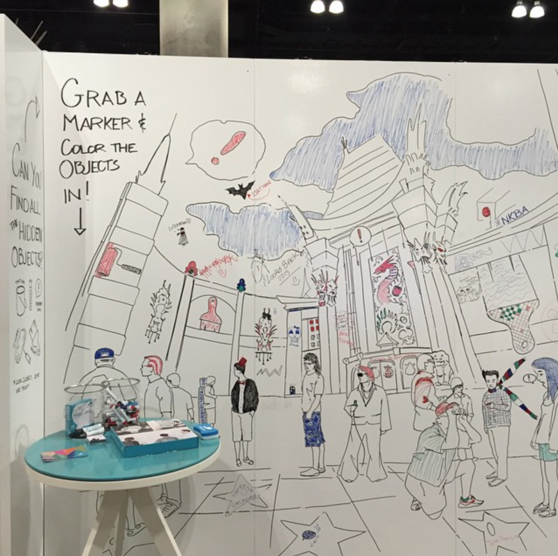 IdeaPaint, the creator of dry erase paint for home, schools, and offices, installed an art wall for the Modern Family Pavilion.