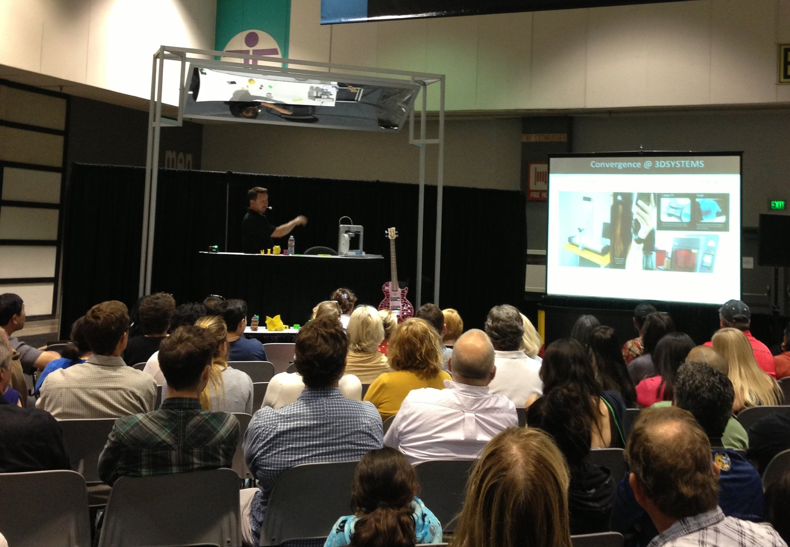 Scott Turner, a veteran of the rapid prototyping industry who's been working in the field since the mid-1980s, explains the history of 3D printing and its transition into the consumer marketplace.  Photo 1 of 3 in Recap: 3D Printing Demo by Cubify