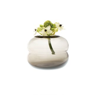 The Bubble smoke digout vase by Chive makes small floral arrangements appear to hover. $11.70