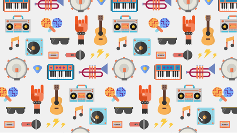 Illustration for the launch of Google Play Music All Access by San Francisco-based graphic designer Zachary Gibson.