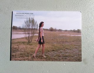 Front cover to Nicole Mlakar's promo package.
