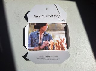 Nicole Mlakar's promo package opened revealing the hidden individual promos inside.
