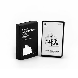 A show-stopper at this year's Dwell on Design, the Iconic Architecture Card Game is a set of cards that features the greatest modern architectural icons separated into seven groups including events, house, tower, culture, religion, housing, and museum. Including 44 black and white cards, the game spans architecture all over the world that have been carefully selected because of their diversity, architectural aspects, technical details, and cultural value.
