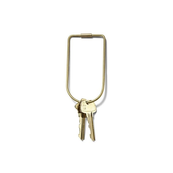 These simple key rings from Areaware were a favorite personal accessory at Dwell on Design. Available in two shapes—Bend and Drop—The Contour Key Rings recall the look of retro, oversized key rings, with a modern slant. Crafted from 10-gauge brass wire, these key rings close and secure with a simple screw clasp.