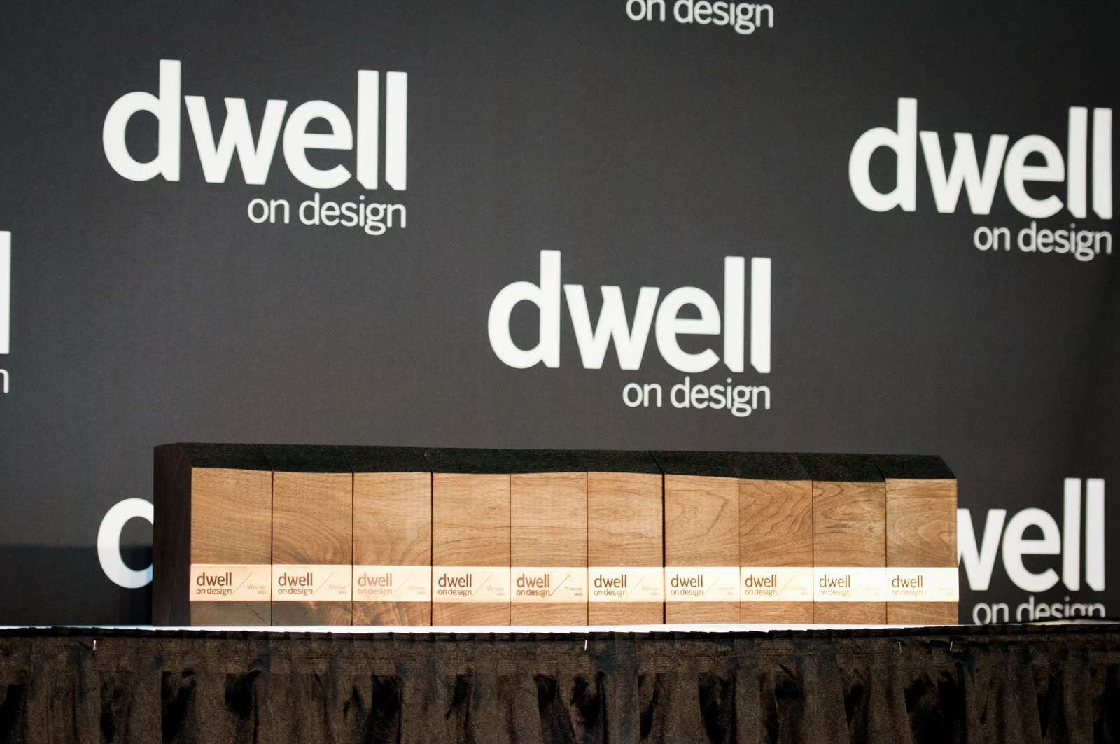 The awards were a custom collaborative design by Dwell creative director Alejandro Chavetta and the San Francisco design firm Ohio. Photo by: Mimi Teller Rosicky  Dwell on Design Awards 2013 by Erika Heet
