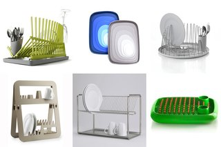 9 Dish Drying Racks  Dishes don't dry on their own and when you don't have a kitchen full of helpful towel-equipped guests at the ready, you're going to need a drying rack on which to place your freshly washed plates. We line up nine dish drainers to help you choose your sink-side assistant.