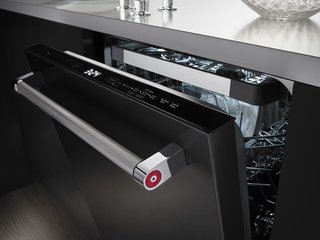 One of the benefits of black stainless steel is that it hides fingerprints and other marks.