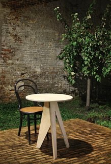 Kangaroo by Henk Desmet and Paul VermeulenA smaller cousin of the Loose Fit table,  the occasional table can move around the home with ease. Photo by Filip Dujardin
