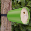The aluminum housing protects birds year-round and attaches to trees with a fastener and lashing strap that does no damage to the tree. Photo  of 13 Great Modern Birdhouses modern home