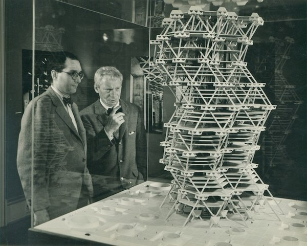 While Kahn's tetrahedron tower was never realized, his inventive suggestion of stacking pieces of precast concrete, a new typology of high-rise design, influenced future modular projects.