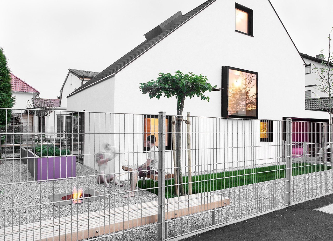 Thanks to its timber frame and simple design, House B was built in less than six months.  A Strikingly Minimal Home Built in Less Than Six Months by Tiffany Jow from House of the Week: Minimalist Dream Home with an Asymmetrical Pitched Roof