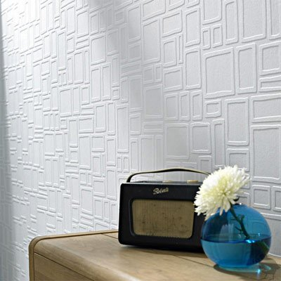WALLPAPER THAT FIXES WALLS  A new line of wallpapers from Graham and Brown allows you cover up that disaster you call a wall. Cinderblocks, paneling, really bad cracks? These wallpapers will smooth right over them.  Photo 29 of 42 in Wallpaper That Fixes Walls