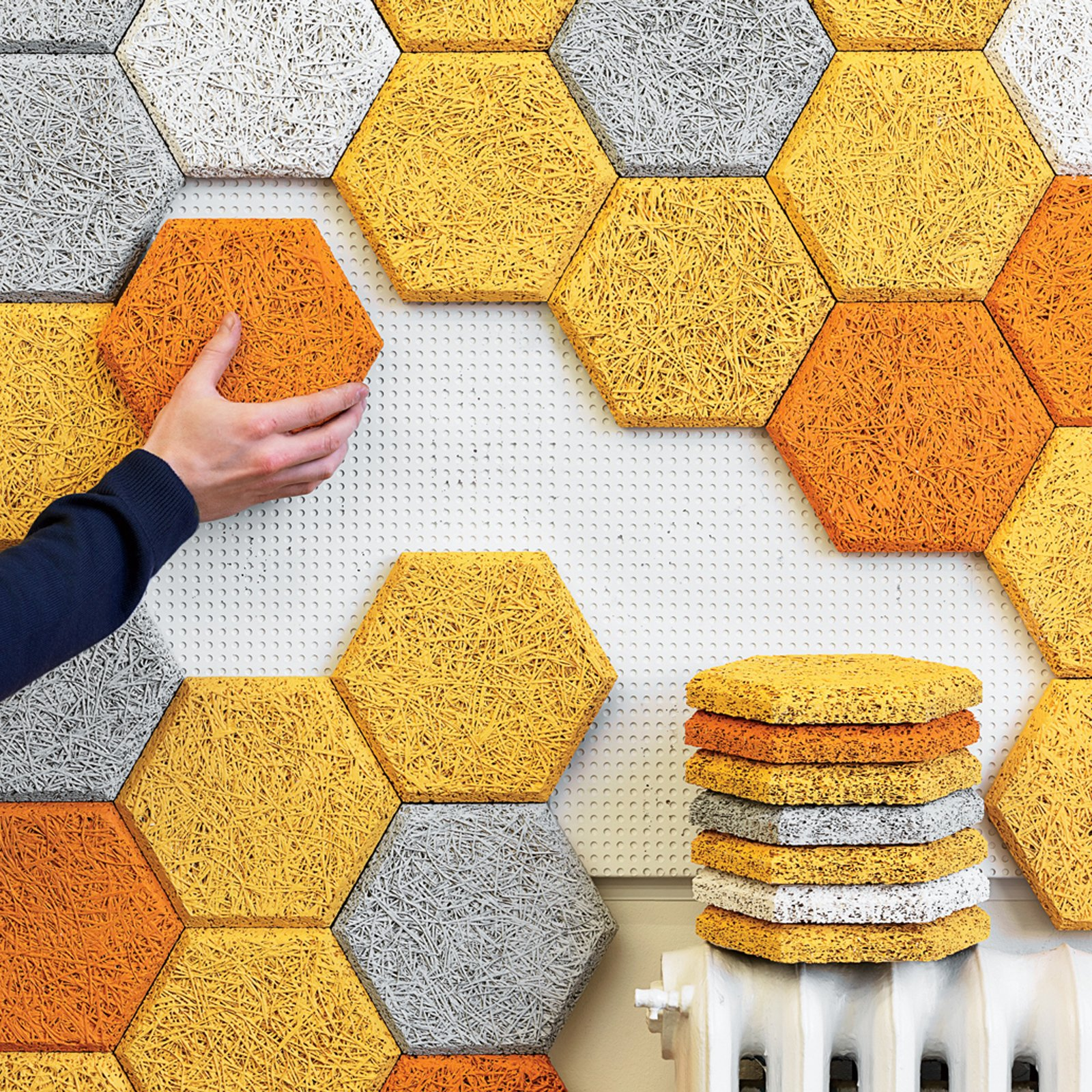 HEXAGON WALL TILES  Wake up Your Walls: 10 Wall Decor Ideas by Megan Hamaker