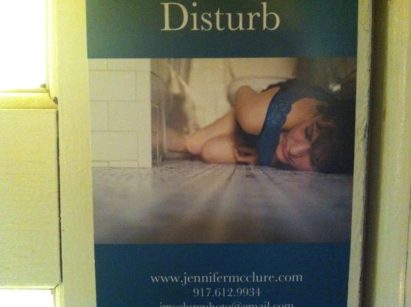 """Close-up of today's Promo Daily of Jennifer McClure's """"Do Not Disturb"""" photography mailer, she's from New York City.  Promo Daily: Jennifer McClure by Anna Goldwater Alexander"""