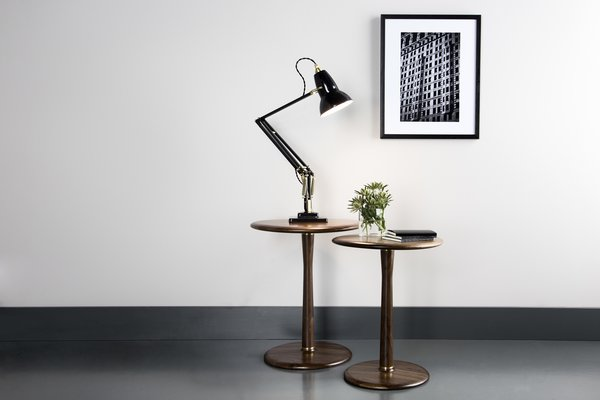 The Original 1227 Brass Desk Lamp in the newly released colorway Deep Slate.