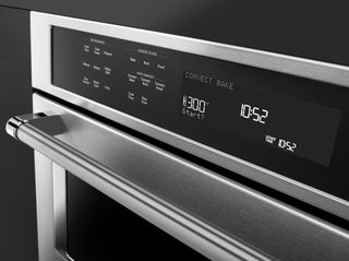 With convection technology, KitchenAid ovens are designed to create an even cooking temperature throughout. To avoid any number crunching, the ovens will convert standard cooking times into convection times.