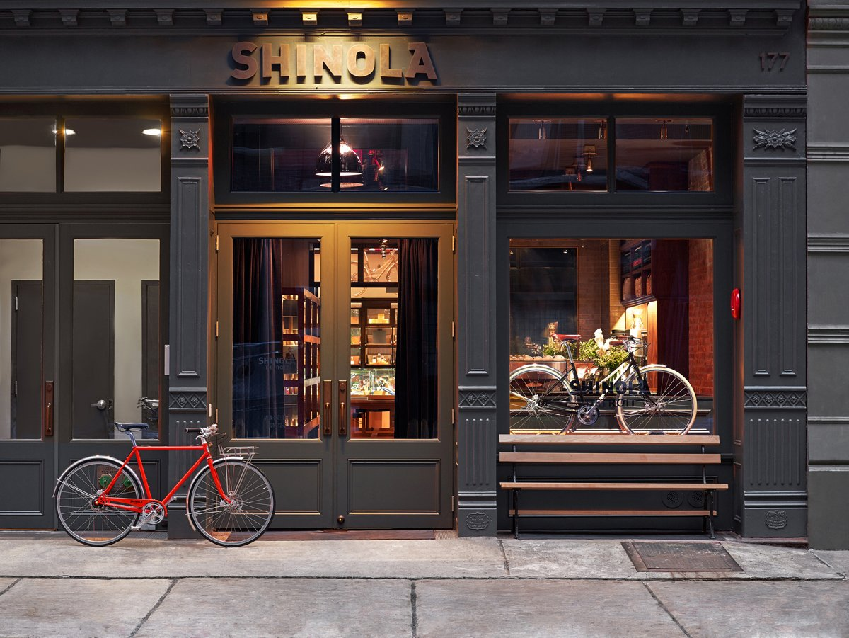 Shinola's new store in Tribeca is located at 177 Franklin Street. The Rockwell Group-designed space includes a cafe run by The Smile in front.  Photo 1 of 5 in Shinola Pairs with Rockwell to Bring Detroit to Tribeca