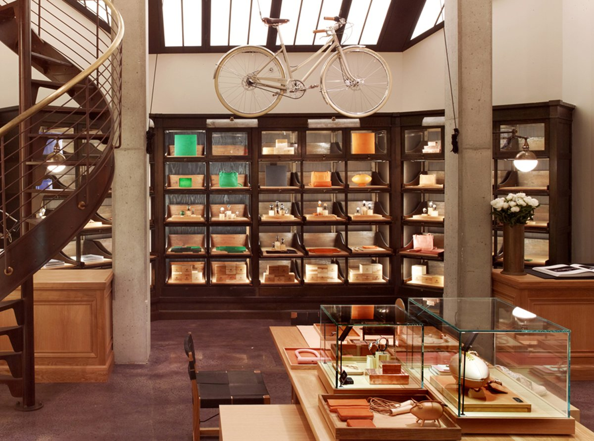 Also sourced from Wyeth are the case goods at the back of the store displaying Shinola's colorful leather goods.   Read on for more details of Shinola's effort to reboot Detroit manufacturing, from Dwell's July/August 2013 issue.  Photo 5 of 5 in Shinola Pairs with Rockwell to Bring Detroit to Tribeca