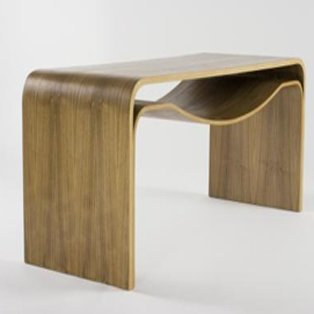 The Amoco table from design firm reiss f.d. is an occasional table constructed of FSC-certified bent plywood. From $2,230