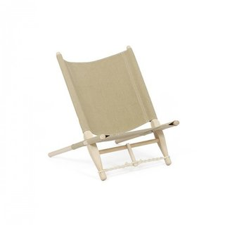 The OGK Lounge Chair was designed in 1962 by Danish architect Ole Gjerløv-Knudsen. The chair is comprised of sustainably harvested beech, which is met with natural jute slip that makes up the seat and chair back. Originally designed for Gjerløv-Knudsen's son's camping trip, the chair is designed with portability and easy assembly in mind.