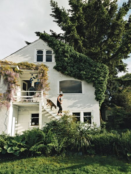 From the outside, an unassuming 1942 cottage overlooking Vancouver's harbor is an unexpected place to find Omer Arbel, a designer known for his experimental, amorphous creations for the Canadian furniture and design company Bocci. But inside the 2,600-square-foot home he shares with his girlfriend, musician Aileen Bryant, and a collection of exotic pets, Arbel's rich imagination and exuberant love of objects are on display. Here, he takes us on a personal tour.